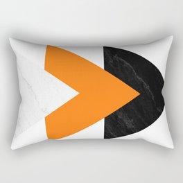 Forward arrows marble orange Rectangular Pillow