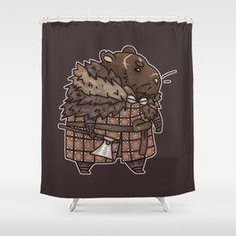 Rollo the Viking Hamster Shower Curtain