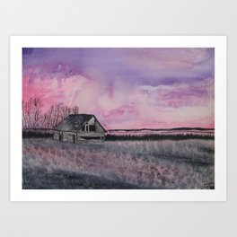 """Red sky in the morning"" Art Print"