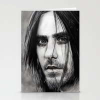 jared leto Stationery Cards featuring Jared Leto by Luna Perri