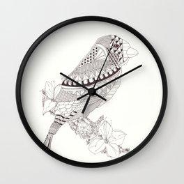 Sparrow Bird graphic design Wall Clock