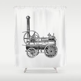 Portable steam engines  from the book Pawson and Brailsfords Illustrated Guide to Sheffield and Neig Shower Curtain