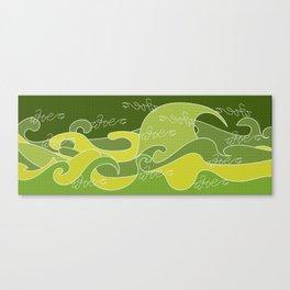 Waves V green colors V Duffle Bags Canvas Print