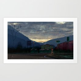Lucca 6a.m. Art Print