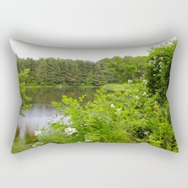 Wild Flowers on the lake Rectangular Pillow