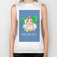 ohana Biker Tanks featuring Ohana by Jessi's Art