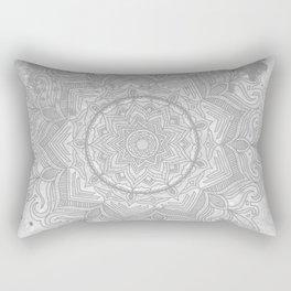 gray splash mandala swirl boho Rectangular Pillow
