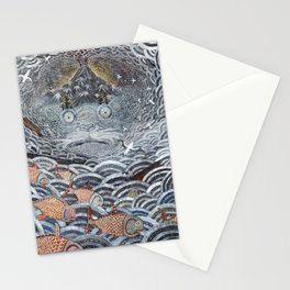 Golden Fishes Stationery Cards