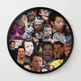 Misha Collins Collage Wall Clock