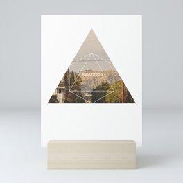 Hollywood Sign - Geometric Photography Mini Art Print