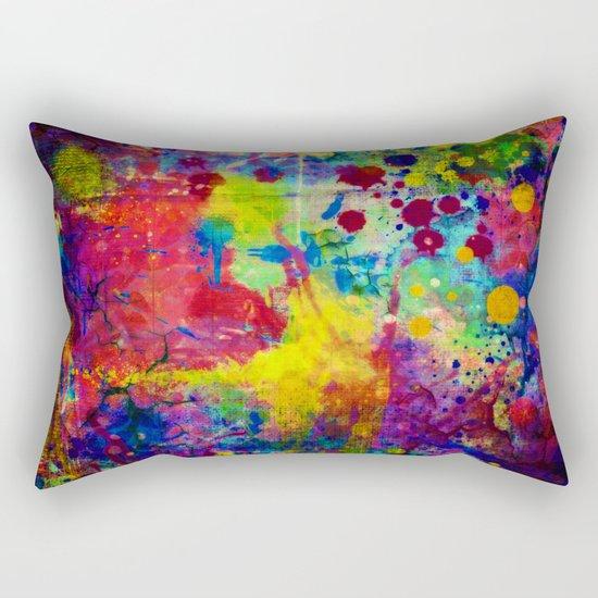 colorful canvas ii Rectangular Pillow