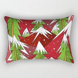 Xmas Mounts Rectangular Pillow