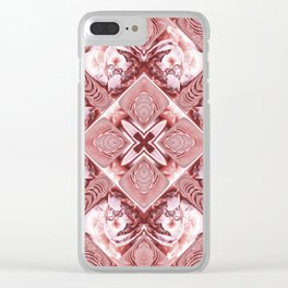 Pink Squares and Twisters Clear iPhone Case