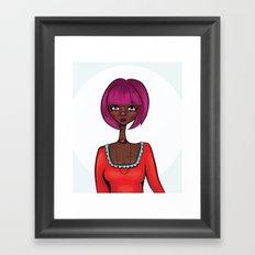 Love Red Framed Art Print