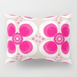Retro Flower Delight Pillow Sham