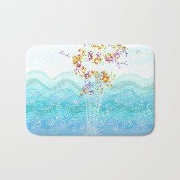 Flying whale Bath Mat