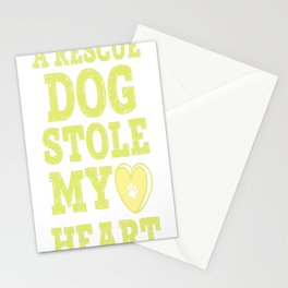 A Rescue Dog Stole My Heart Stationery Cards
