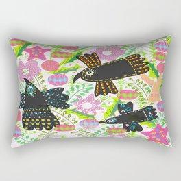 Mexian Chrstmas Birds Rectangular Pillow