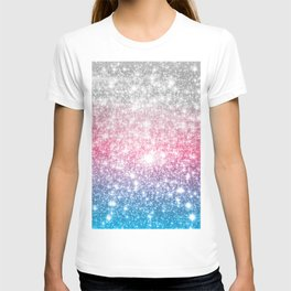 Galaxy Sparkle Stars Cotton Candy T-shirt