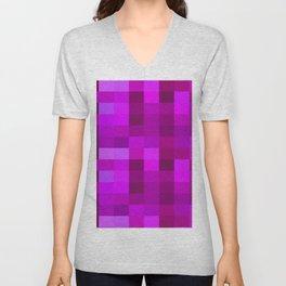 Purple Mosaic Unisex V-Neck