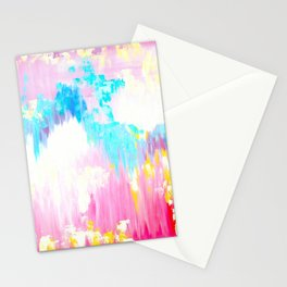 Abstract Pink Pastel Prints Stationery Cards