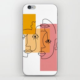 COLOR BLOCK FACES iPhone Skin