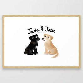 "Custom Cute Dog Art ""Jada & Josie"" Framed Art Print"