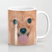 pomeranian Mugs featuring Pomeranian by Pancho the Macho