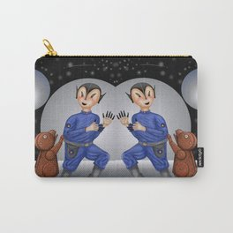 Alien Boy and Robot Dog  Carry-All Pouch