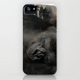 Sleepy Gorilla iPhone Case