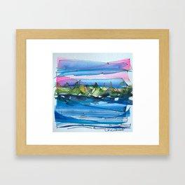 Montagne-fleuve si beau! Framed Art Print