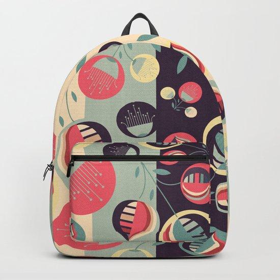 50's floral pattern II Backpack