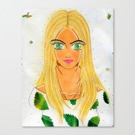 The Banana Leaf Gaze Canvas Print