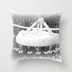Frozen flutters Throw Pillow