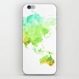 World Map Watercolor #5 iPhone Skin