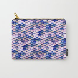 Rose Mermaid Skin Pattern Carry-All Pouch