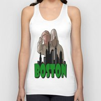 boston Tank Tops featuring BOSTON  by Robleedesigns