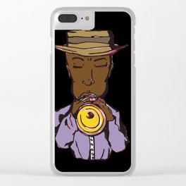 Jazz Player trumpet Clear iPhone Case