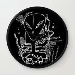 Alien-teenager from Orion Wall Clock