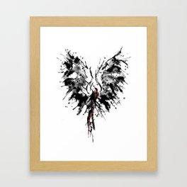 inked phoenix Framed Art Print