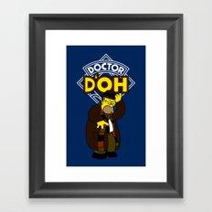 Doctor D'oh Framed Art Print