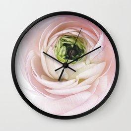 Pink Ranunculus Flower I Wall Clock