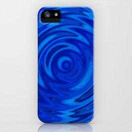 Water Moon Cobalt Swirl iPhone Case