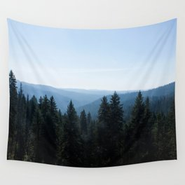 Scenic Tree Lined Valley Photography Print Wall Tapestry