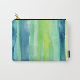 Vertical Stripes Pattern Spring Colors Carry-All Pouch