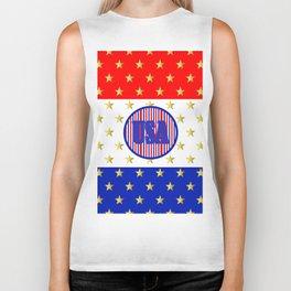 USA Stars And Stripes - United States Biker Tank