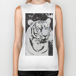 Urban Pop Art Tiger Biker Tank