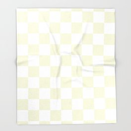 Checkered - White and Beige Throw Blanket