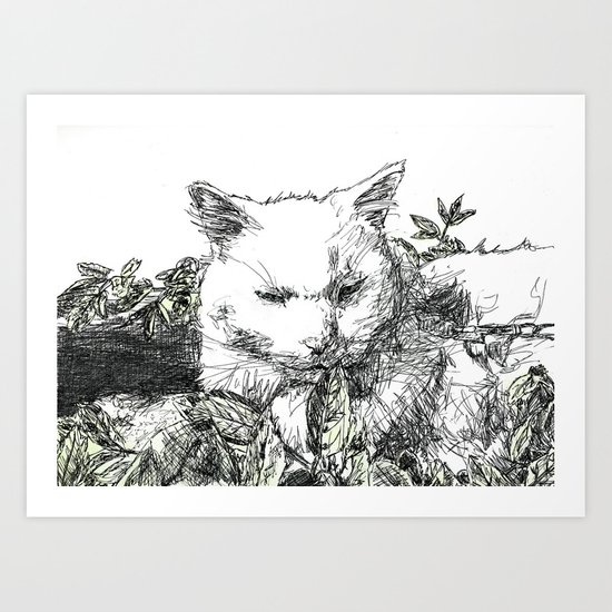 Lucky in the Outdoors Art Print