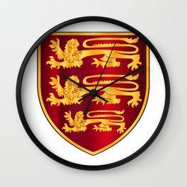 British Three Lions Crest Wall Clock